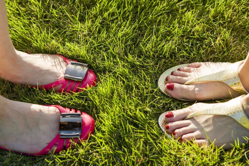バーベキューの靴
