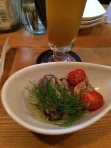 IBREWの牡蠣のマリネ