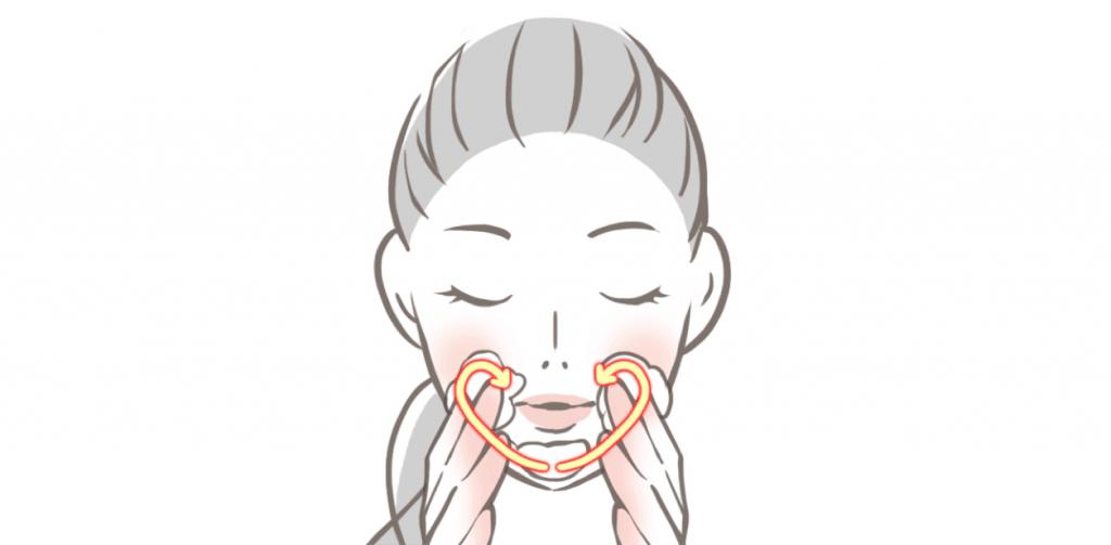 洗顔方法の図_2