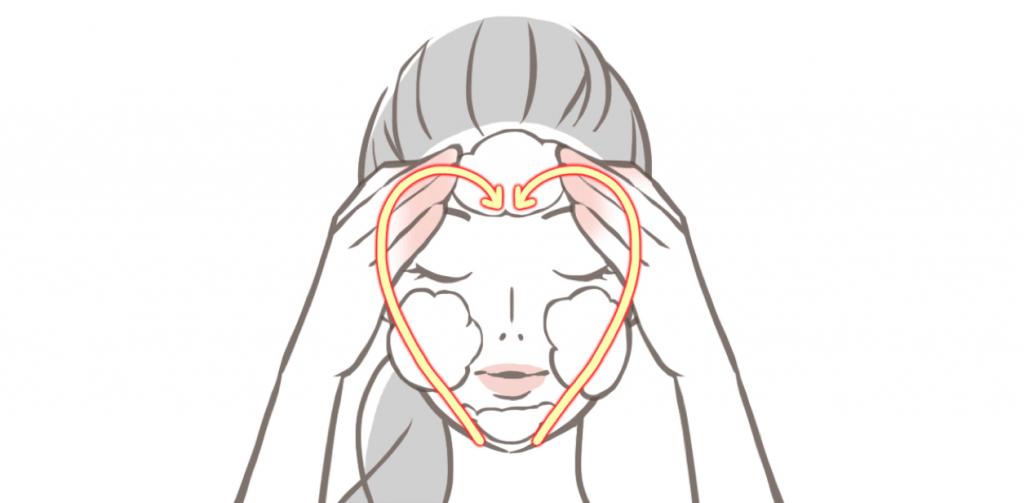 洗顔方法の図_4